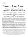 RPG Item: ADCP5-1: Home's Last Light