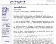 RPG Item: Lexicon