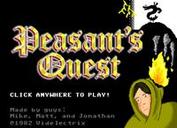 Video Game: Peasant's Quest