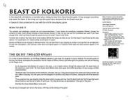 RPG Item: Beast of Kolkoris