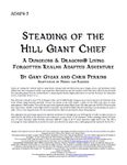 RPG Item: ADAP4-3: Steading of the Hill Giant Chief (Living Forgotten Realms Adapted)
