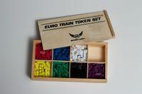 Board Game Accessory: Miscellaneous: Premium Wooden Train Token Set