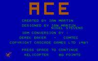 Video Game: ACE Air Combat Emulator