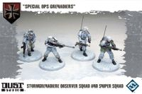 """Board Game: Dust Tactics: Sturmgrenadiere Observer Squad and Sniper Squad – """"Special Ops Grenadiers"""""""