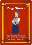 Board Game: Wok Star: Paige Turner Promo Character