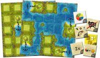 Board Game: Amerigo Queenie 2: Cove Island, Bay Island & New Progress Tokens