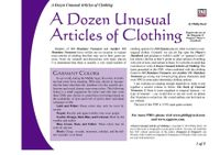 RPG Item: A Dozen Unusual Articles of Clothing