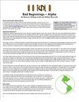 RPG Item: Bad Beginnings: Alpha