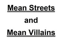 RPG: Mean Streets and Mean Villains