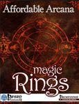 RPG Item: Affordable Arcana: Magic Rings