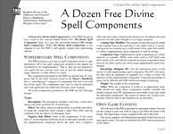 RPG Item: A Dozen Free Divine Spell Components