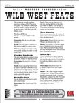 RPG Item: Wild West Feats