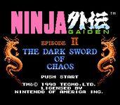 Video Game: Ninja Gaiden II: The Dark Sword of Chaos