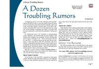 RPG Item: A Dozen Troubling Rumors