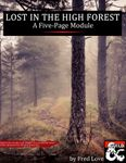 RPG Item: Lost in the High Forest