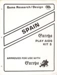 Board Game Accessory: Spain and Portugal: Spain, Europa Play Aids Kit 5