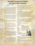 RPG Item: Eldritch Ancestries: Felsine (Kittfolk)