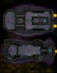 RPG Item: VTT Map Set 290: Starship Deckplan: Heavily Armored Transport Ships