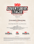 RPG Item: Adventurers League Player's Guide (Tyranny of Dragons)