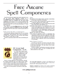 RPG Item: Free Arcane Spell Components