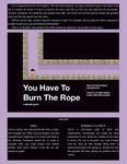 RPG Item: You Have to Burn the Rope