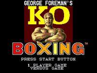 Video Game: George Foreman's KO Boxing