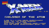 Video Game: X-Men: Children of the Atom