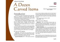 RPG Item: A Dozen Carved Items