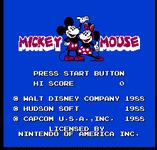 Video Game: Mickey Mousecapade