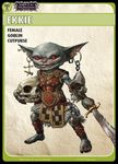 """Board Game: Pathfinder Adventure Card Game: Wrath of the Righteous – """"Ekkie"""" Promo Character Card Set"""