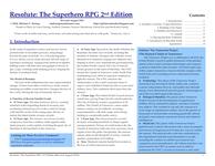 RPG Item: Resolute: The Superhero RPG 2nd Edition