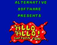 Video Game: 'Allo 'Allo! Cartoon Fun