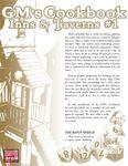 RPG Item: GM's Cookbook: Inns & Taverns #1
