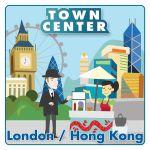 Board Game: Town Center: London / Hong Kong