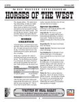RPG Item: Horses of the West