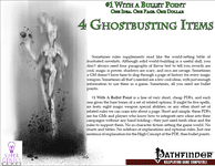 RPG Item: Bullet Points: 4 Ghostbusting Items