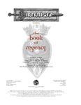RPG Item: The Book of Regency