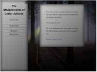 RPG Item: The Disappearance of Dexter Julianos