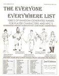 RPG Item: The Everyone Everywhere List