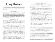 RPG Item: Long Knives