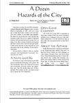RPG Item: A Dozen Hazards of the City