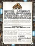 RPG Item: Full Metal Fridays Installment 2, Week 3: Unsafe Working Conditions