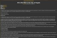 RPG Item: All is Not Well in the City of Angels