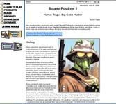 RPG Item: Bounty Postings 2: Harno: Rogue Big Game Hunter
