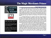 RPG Item: Magic Merchants Primer