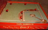 "Board Game: Carl Hubbell's ""Strike Three"" Baseball"