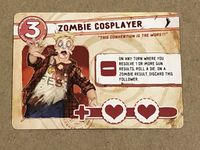Board Game: Run Fight or Die: Zombie Cosplayer Promo Card