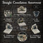 RPG Item: Straight Crenellation Assortment Pack