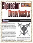 RPG Item: Character Drawbacks
