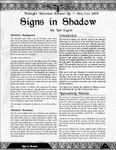 RPG Item: Signs in Shadow